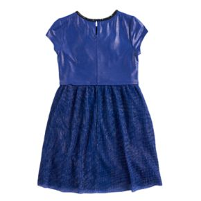 Disney D-Signed Descendants Girls 7-16 Metallic Knit Plisse Flare Dress