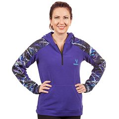 Women's Huntworth Camo Fleece Quarter-Zip Hoodie
