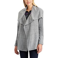 Women's Chaps Rib-Knit Drawstring Cardigan