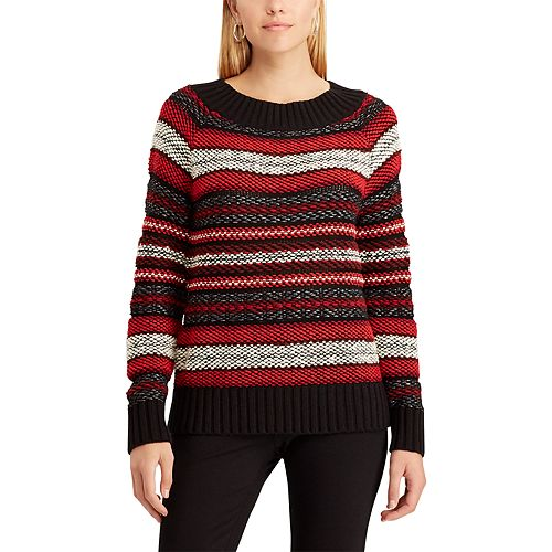 Women's Chaps Striped Scoopneck Sweater