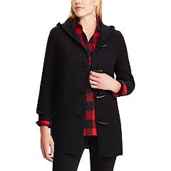 Women's Chaps Rib-Knit Toggle Cardigan