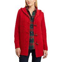 Women's Chaps Rib-Knit Toggle Cardigan