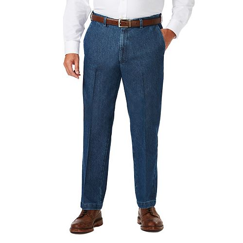 Big & Tall Haggar Classic-Fit Expandable-Waist Stretch Jeans