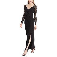 Women's Chaps Lace-Sleeve Jersey Evening Gown
