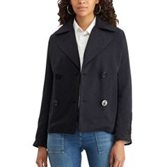 Women's Chaps French Terry Double-Breasted Jacket