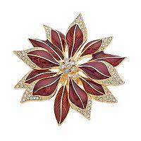 Napier Poinsettia Pin