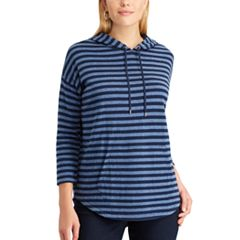 Women's Chaps Striped Double-Knit Hoodie