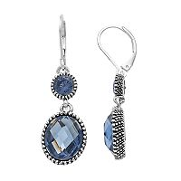 Napier Milgrain Double Drop Earrings