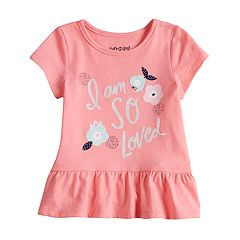 Baby Girl Jumping Beans® Graphic Peplum