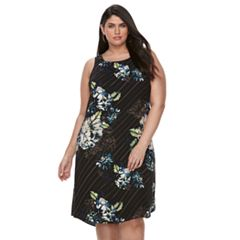 Plus Size Apt. 9® Printed A-Line Dress