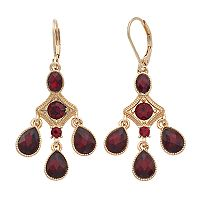 Napier Antiqued Milgrain Chandelier Earrings