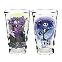 The Nightmare Before Christmas 2 pc Glass Tumbler Set