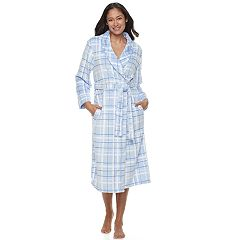 Women's Croft & Barrow® Plaid Long Sleeve Robe