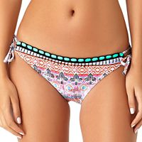 Juniors' California Sunshine Crochet-Trim Hipster Bikini Bottoms