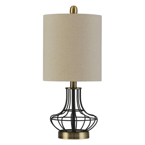 Contemporary Industrial Cage Table Lamp