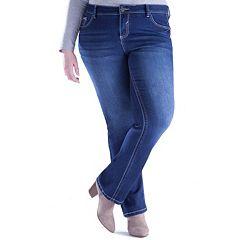 Juniors' Plus Size Amethyst Slim Bootcut Jeans