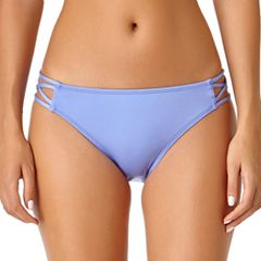 Juniors' California Sunshine Strappy Side Hipster Bikini Bottoms