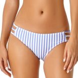 Juniors' California Sunshine Vertical Stripe Hipster Bikini Bottoms