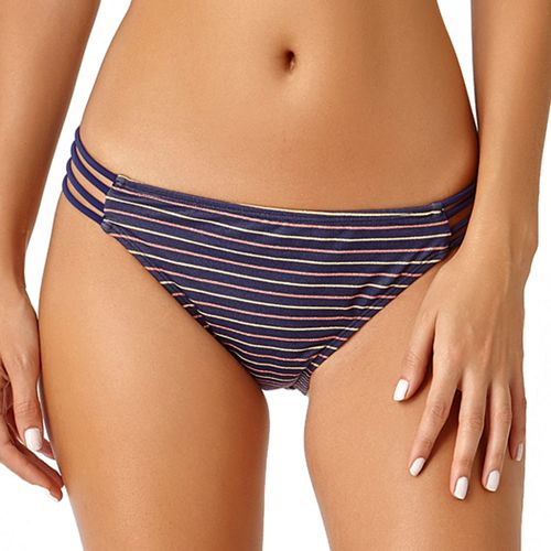 Juniors' California Sunshine Lurex Strappy Side Hipster Bikini Bottoms