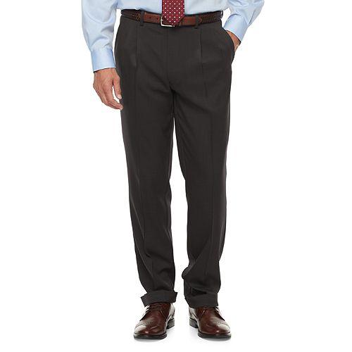 Big & Tall Chaps Classic-Fit Performance Pleated Dress Pants