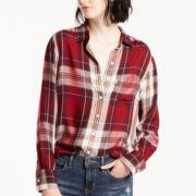 Women's Levi's® Plaid Boyfriend Shirt
