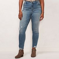 Plus Size LC Lauren Conrad Destructed Skinny Jeans