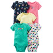 Baby Girl Carter's 5-pk. Short Sleeve Bodysuits