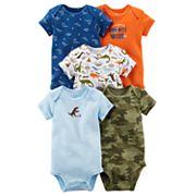 Baby Boy Carter's 5 pkDinosaur Bodysuits