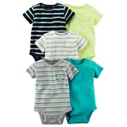 Baby Boy Carter's 5 pkStriped & Solid Bodysuits