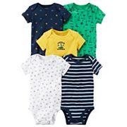 Baby Boy Carter's 5 pk'Captain Adorable' Nautical Bodysuits