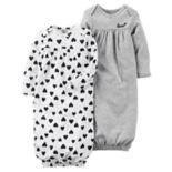 Baby Girl Carter's 2 pkSleeper Gowns