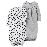 Baby Girl Carter's 2-pk. Sleeper Gowns