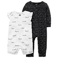 Baby Girl Carter's Heart Print Coverall &