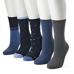 Women's SONOMA Goods for Life™ 5-pk. Polka Dot Crew Socks
