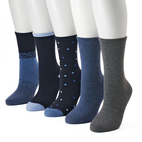 Women's SONOMA Goods for Life™ 5-pk. Polka Dot Crew Socks
