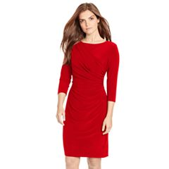 Women's Chaps Draped Sheath Dress