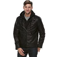 Men's Marc Anthony Slim-Fit Fleece Bibbed Hooded Jacket