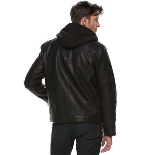 Men's Marc Anthony Slim-Fit Fleece Bibbed Hooded Jacket