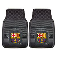 FANMATS FC Barcelona 2-Piece Car Floor Mat Set