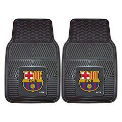 FANMATS FC Barcelona 2-Piece Car Floor Mat Set