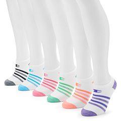 Women's Champion 6-pk. Striped No Show Socks