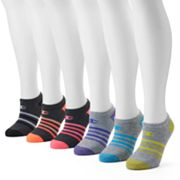 Women's Champion 6 pkStriped No Show Socks