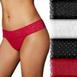 Women's Maidenform Lace Thong 4 Pack