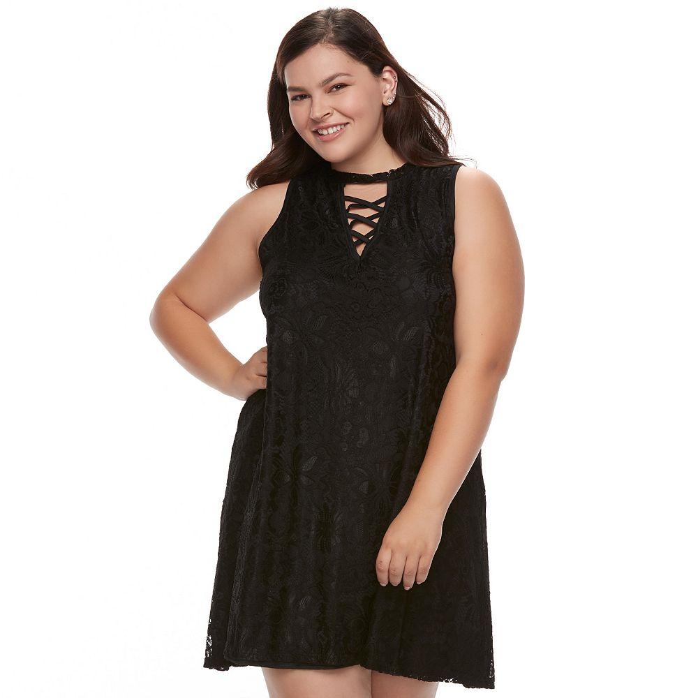 Plus Size Liberty Love Lace Shift Dress