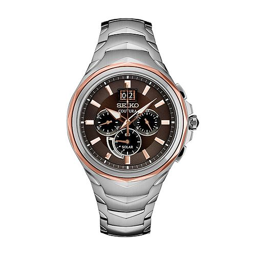 Seiko Men's Coutura Stainless Steel Solar Chronograph Watch - SSC628