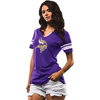 Women's Majestic Minnesota Vikings Go For Two Tee