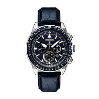 Seiko Men's Prospex Leather Solar Aviator Watch - SSC631