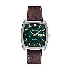 Seiko Men's Recraft Leather Automatic Watch - SNKP27