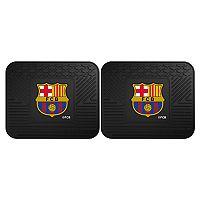 FANMATS FC Barcelona 2-Pack Utility Car Mat