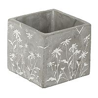Gerson Small Indoor / Outdoor Embossed Floral Planter